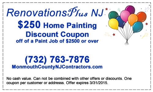 Renovations Plus NJ $250 Painting Discount Coupon