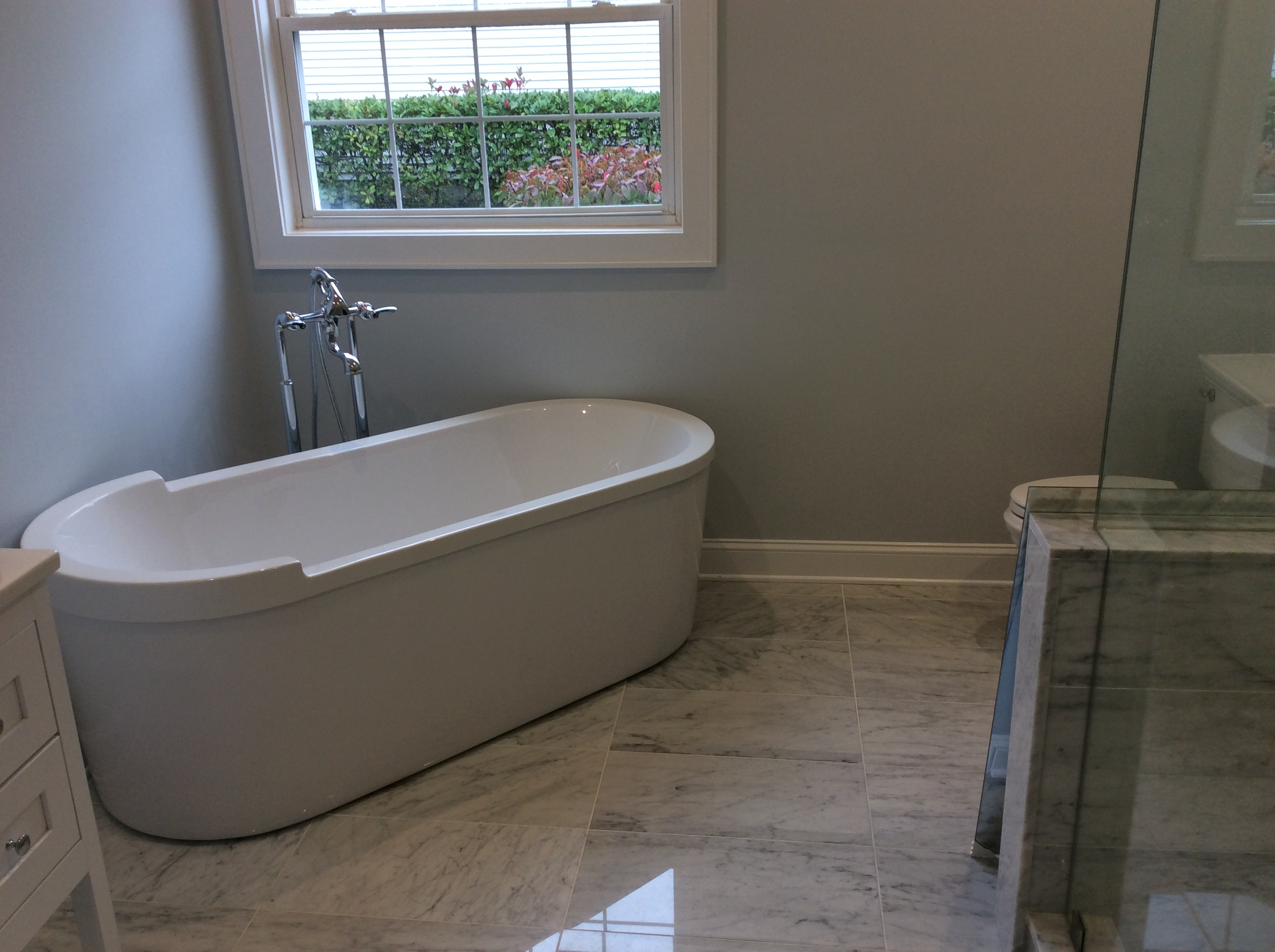 Another custom bathroom remodel completed in manasquan for Custom bathroom renovations